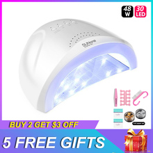 Sun one UV lamp 48w led nail manicure Professional Curing Gel Polish Nail Art Tool One Touch Timer cabine uv nail light dryer 2017 hot new professional 4pcs 9w nail dryer uv lamp light bulb tube replacement art nail polish manicure