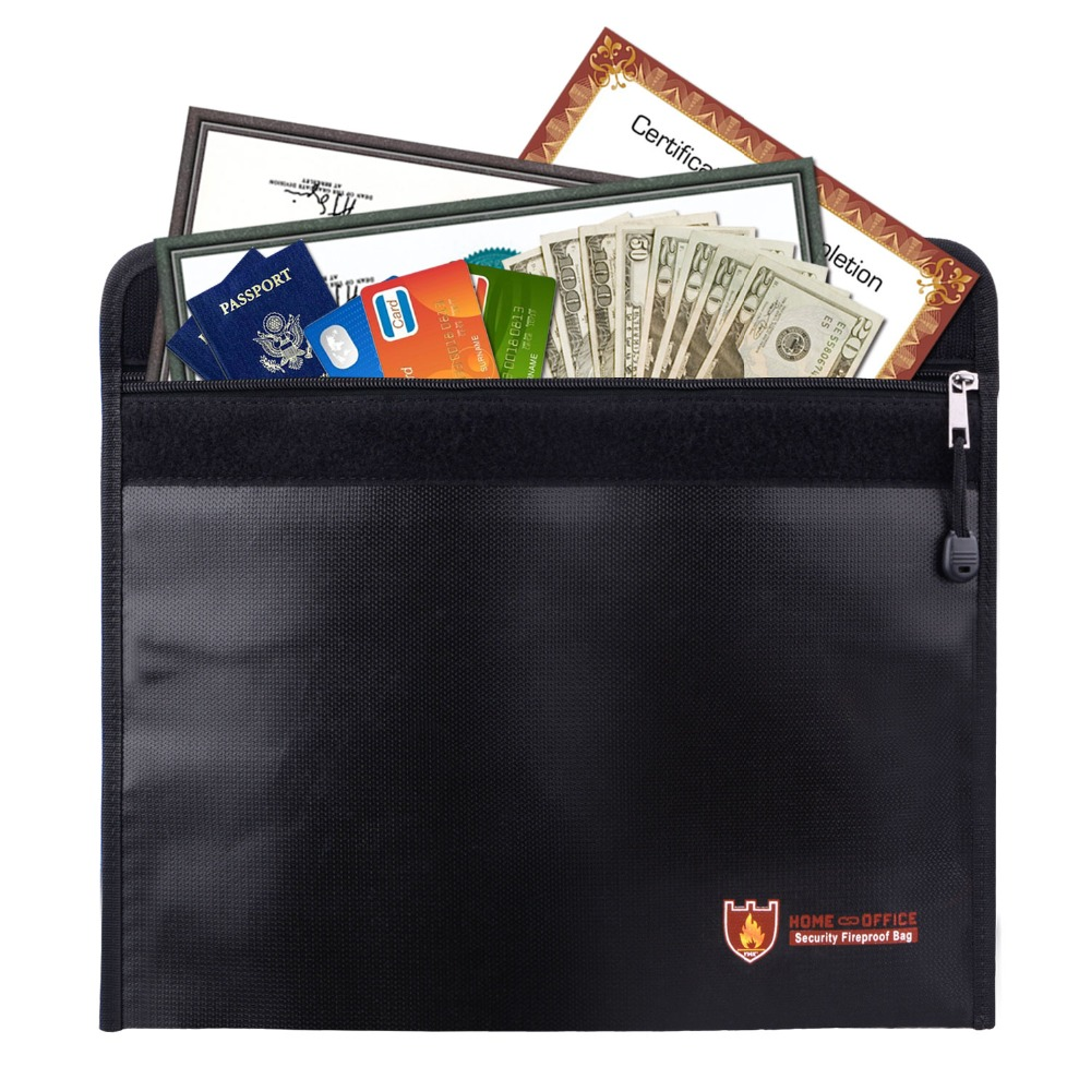Fireproof Home Fuse Box Detailed Wiring Diagrams Electrical Money Bag Fire Water Resistant Envelope Pouch Safe