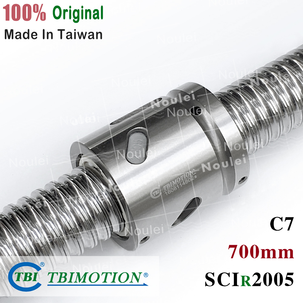 TBI ballscrew 2005 with SCI2005 700mm Without flange ball nut with end machined for CNC diy kitTBI ballscrew 2005 with SCI2005 700mm Without flange ball nut with end machined for CNC diy kit