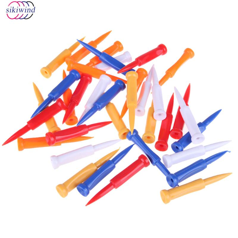 New Promotion 35pcs/pack Golf Tees Plastic Castle Tee Height Control Step Down 68mm Drop Shipping