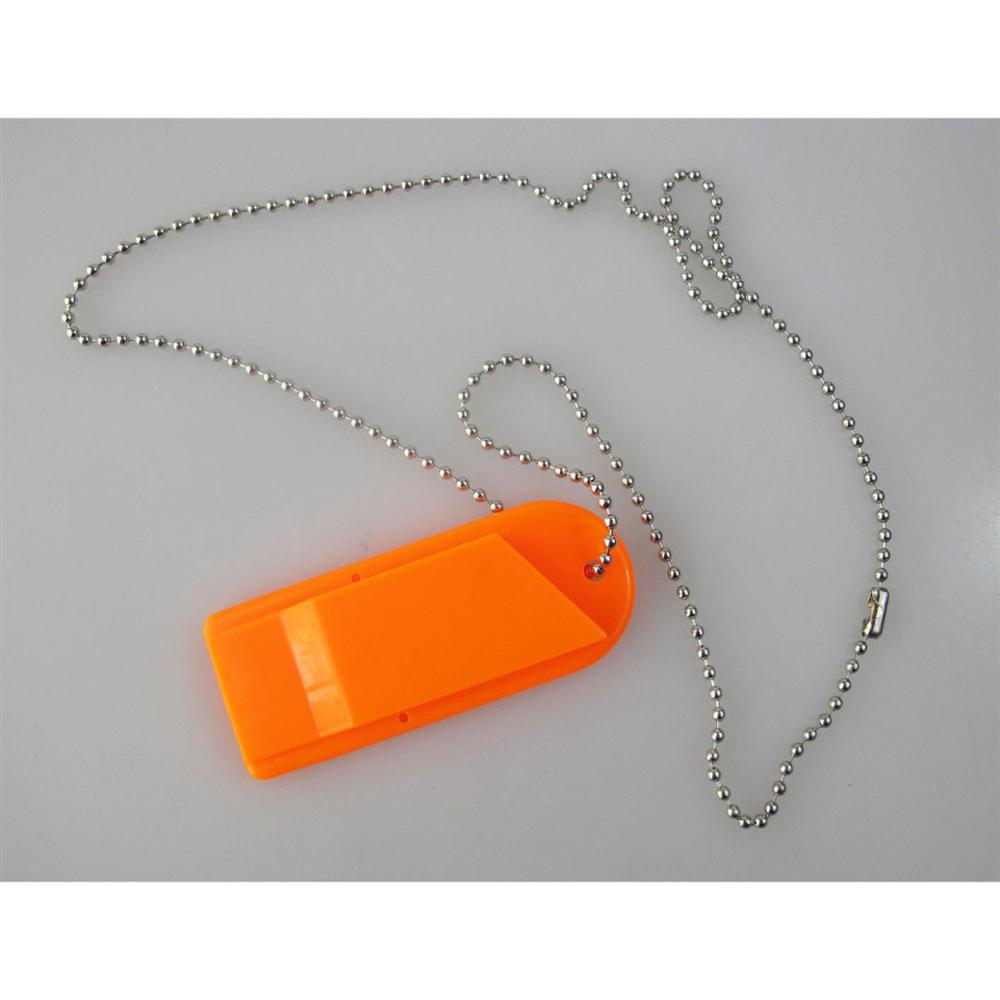 Emergency Whistle Plastic Whistle With Ball Chain 3 Frequencies Survival Whistle Safety Whistle Sports Whistle