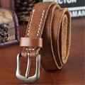 2017 de cuero de Vaca pin Correa de hebilla de Cinturones de Cuero Genuino Para las mujeres de la marca de lujo de la vendimia vaqueros correa de Diseñadores de alta calidad Width2.3CM