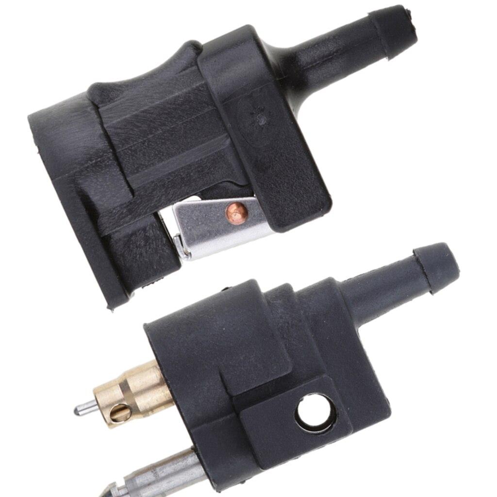 1 conjunto 1/4 6 6mm masculino & 5/16 10 10mm fêmea linha de combustível mangueira adaptador conector da tubulação montagem para yamaha motor de popa acessórios do barco