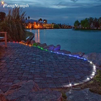 Outdoor Aluminum Alloy Solar 6-LED Road Driveway Dock Path Ground Lights Lamp