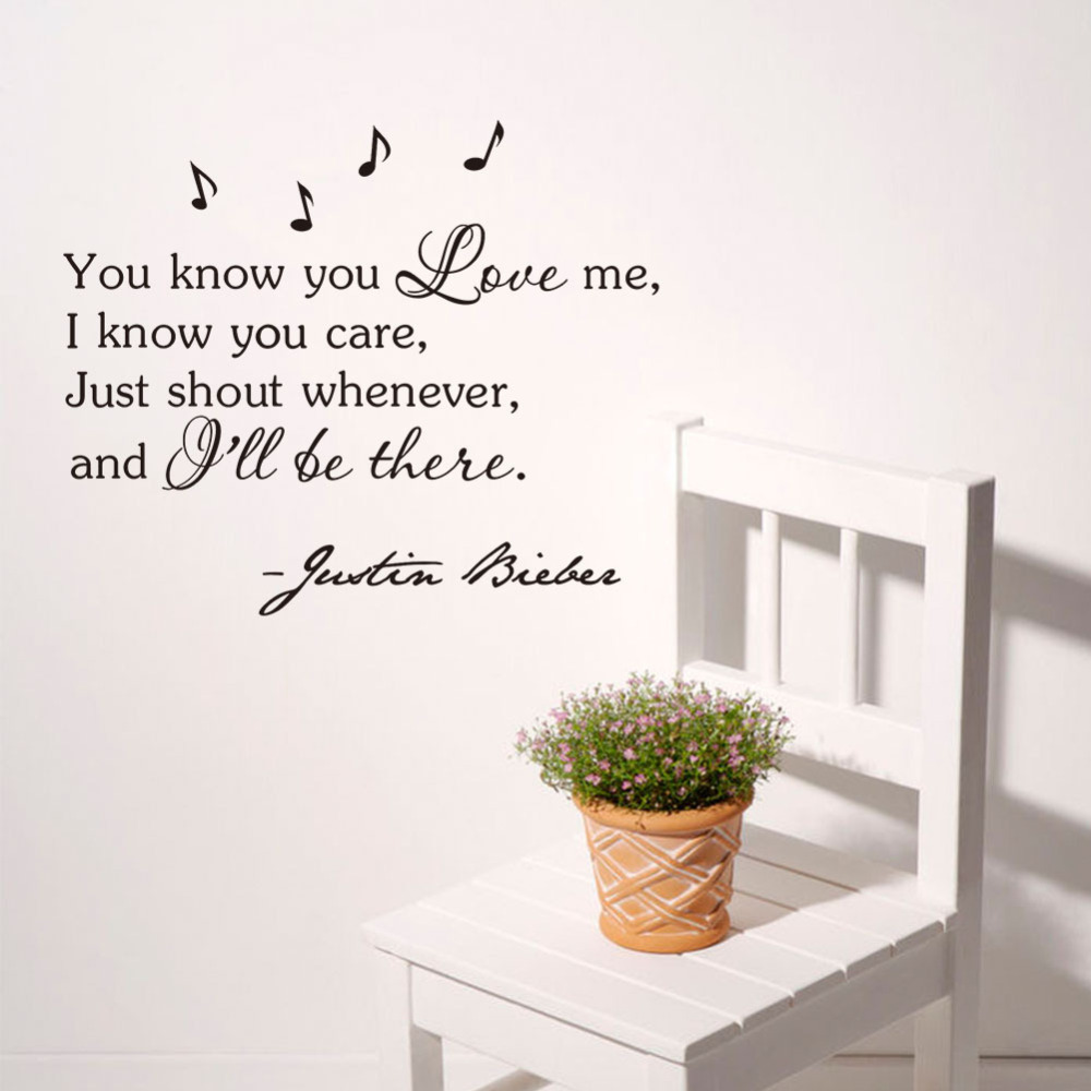 Aliexpresscom Buy You Love Me Music Notes Wall Decals Removable