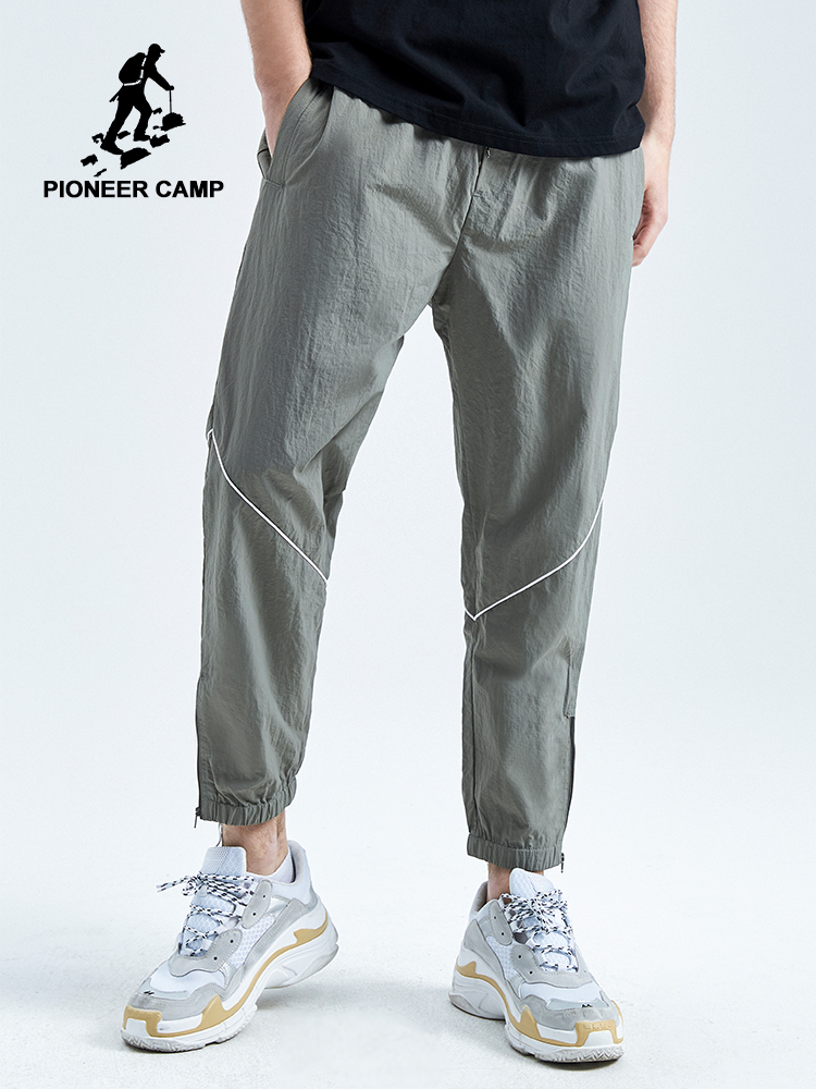 Pioneer Camp 2019 Spring Autumn New Casual Pants Men Cotton Slim Fit Patchwork Fashion Trousers Male Brand Clothing AXX902032