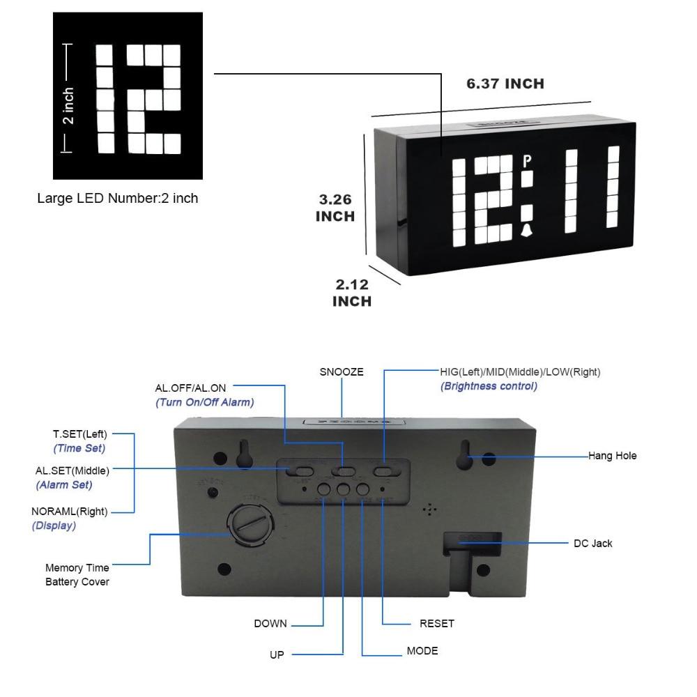 US $48 99 30% OFF Aliexpress com : Buy KOSDA One piece Alarm clock creative  mute luminous multi function electronic clock LED digital countdown timer