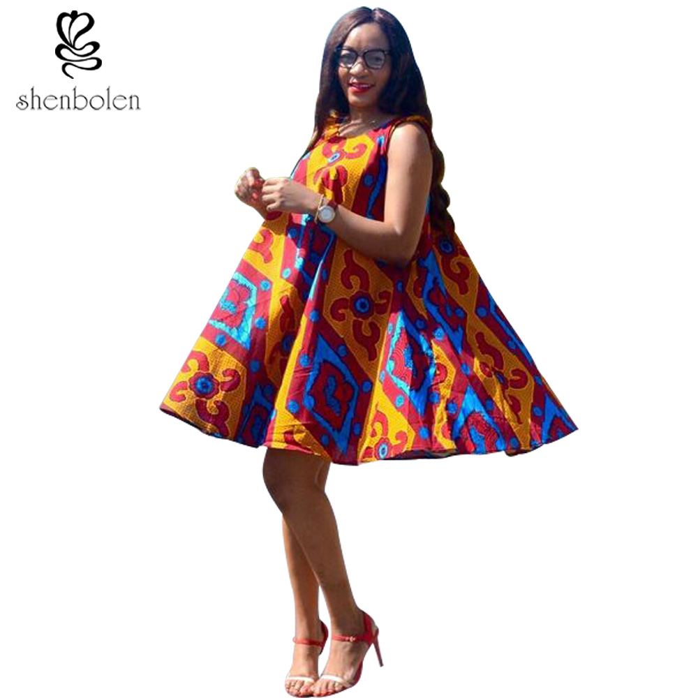 Batik Print Dress 2017 African Tradition Of Fashion And Personality Temperament Cotton