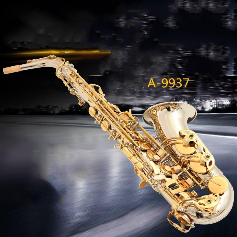 Instruments Yanagisawa E flat Saxophone Alto Musique Japon Yanagisawa A-9937 alto sax jouer professionnel Or plaqué argent Sax