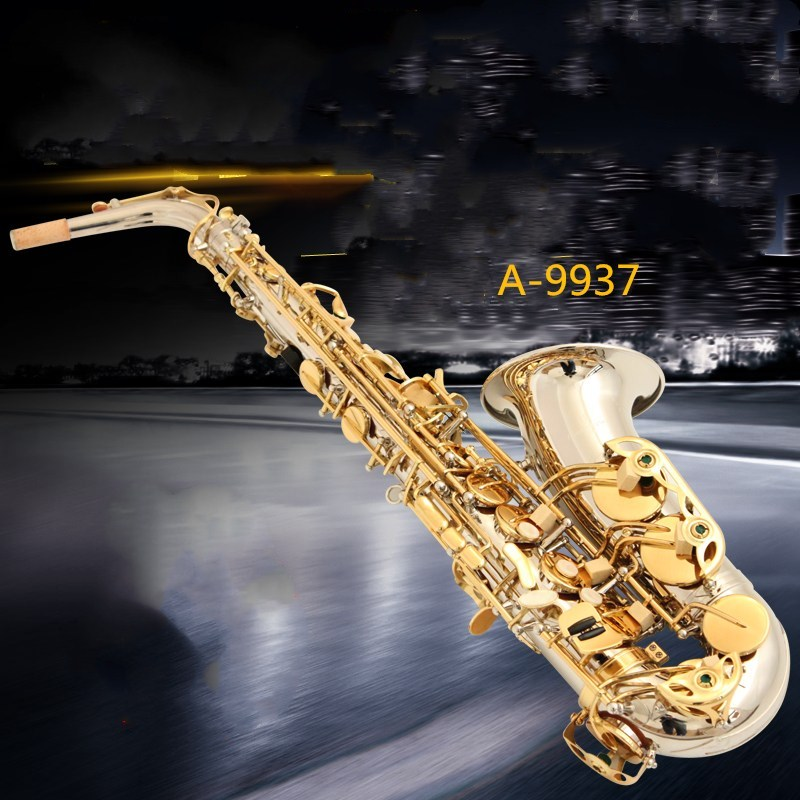 instruments Yanagisawa E flat Alto Saxophone Music Japan Yanagisawa A-9937 alto sax playing professional Gold plated silver Sax alto saxophone new eb silver alto sax plated brass musical instruments professional saxophone alto sax e flat