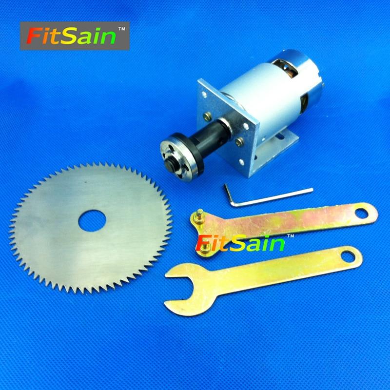 FitSain-775モーターDC24V 8000RPM 4インチ100mm丸鋸刃、木材切断ディスクミニテーブル電動鋸のこぎり穴16または20mm