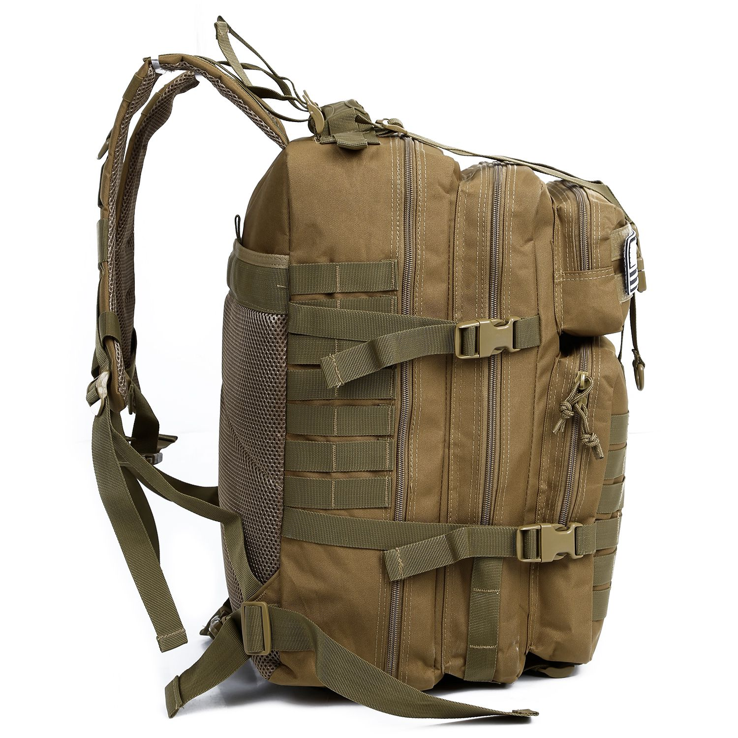 LJL 34L Tactical Assault Pack Backpack Army Molle Waterproof Bug Out Bag Small Rucksack for Outdoor Hiking Camping Hunting(Kha 34l military tactical assault pack backpack army molle waterproof bug out bag small rucksack for outdoor hiking camping hunting