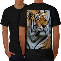 Tigre Foto di Animali Selvatici T-Shirt Da Uomo Posteriore NUOVO | Wellcoda
