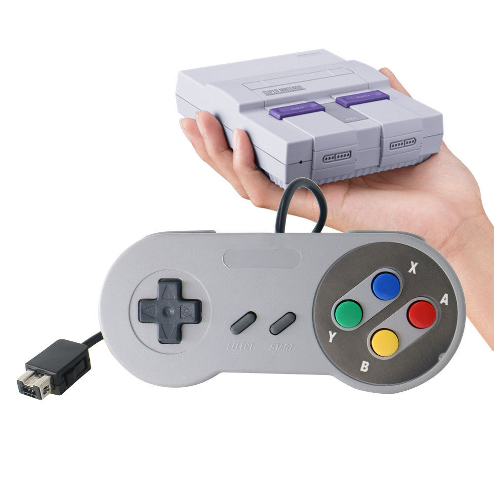 One Pcs USB Retro Wired Gamepad Joypad Controller Joystick For MAC Super NES  Classic Edition Nintendo Games