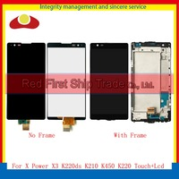 10pcs DHL For LG X Power X3 K220ds K220dsK K210 K450 K220 Full Lcd Display Touch