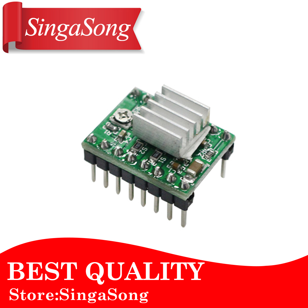 цена на 5pcs/lot. Reprap Stepper Driver A4988 Stepper Motor Driver Module + Heat Sink