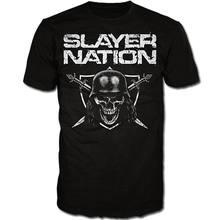 62067f8a6 T-Shirt Engraçado do Slayer Nação Camisa S M L XL XXL T-Shirt Oficial Da  Banda de Thrash Metal Camiseta Novo Hop Roupas Casuais