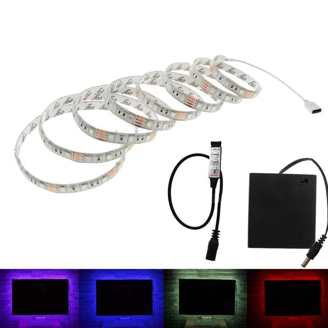 Batterie Led Streifen SMD 5050 5 V IP20/IP65 Wasserdichte Band Beleuchtung  DIY Dekorative