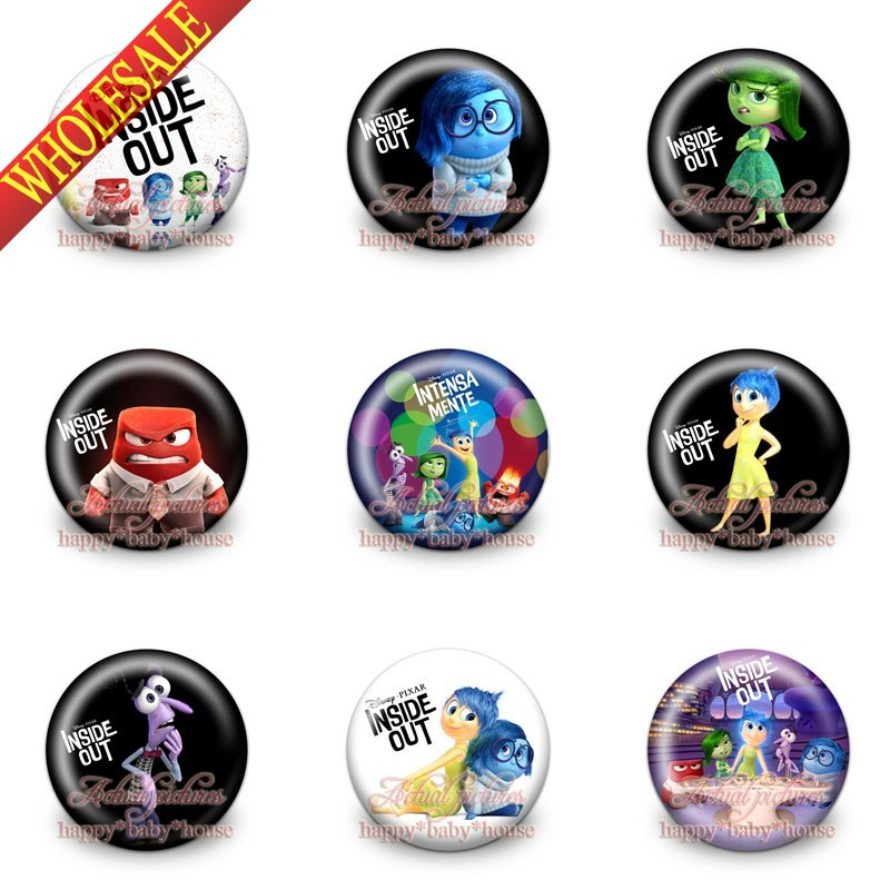 Bag Parts & Accessories High Quality Novelty 45pcs Inside Out 30mm Diameter,buttons Pins Badges Cartoon Round Badges For Kids Gifts Bags Accessories