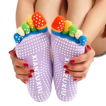 Top Quality 5 Toes Cotton Yoga Socks Exercise Sports Pilates Massage non-slip Sock Toe Five Fingers  Girl Female Women Ladies