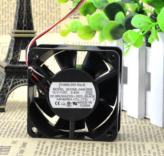 The original NMB 2410ML-04W-B69 12V 0.40A 60*60*25mm three line industrial computer cooling fan