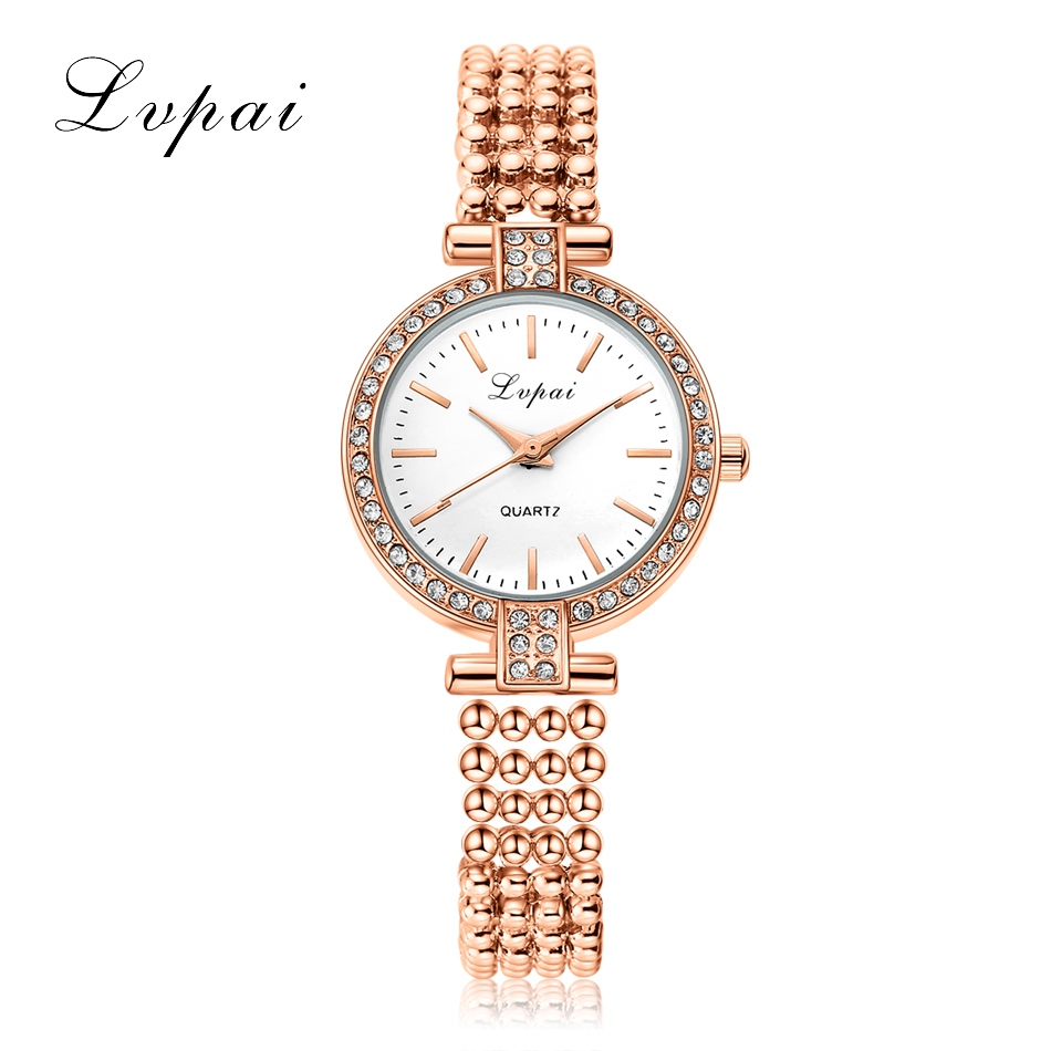 Top Brand Lvpai Watch Women Luxury Dress Stainless Steel Watches Fashion Casual Ladies Quartz Watch Gold Silver Female Clock new lvpai fashion 2017 luxury rhinestone watches women stainless steel quartz watch for ladies dress watch gold bracelet clock