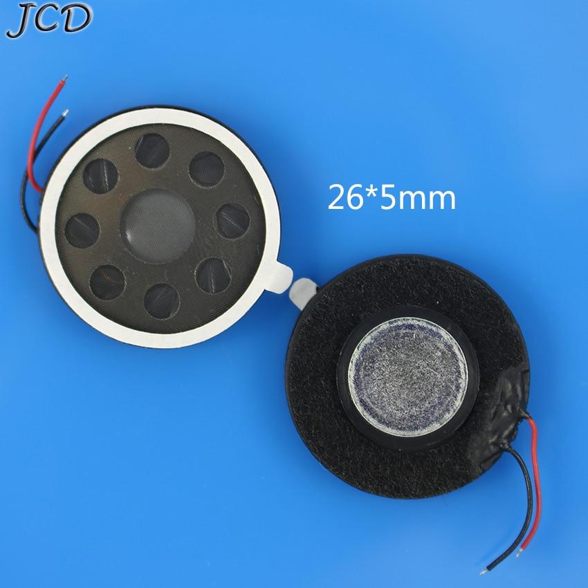 JCD Round 8 Ohm 1W Speaker 8ohm 26mm Loud Speakers Mobile Phone Small Loudspeaker Audio  Earpiece Speaker With Flex Cable  DIY