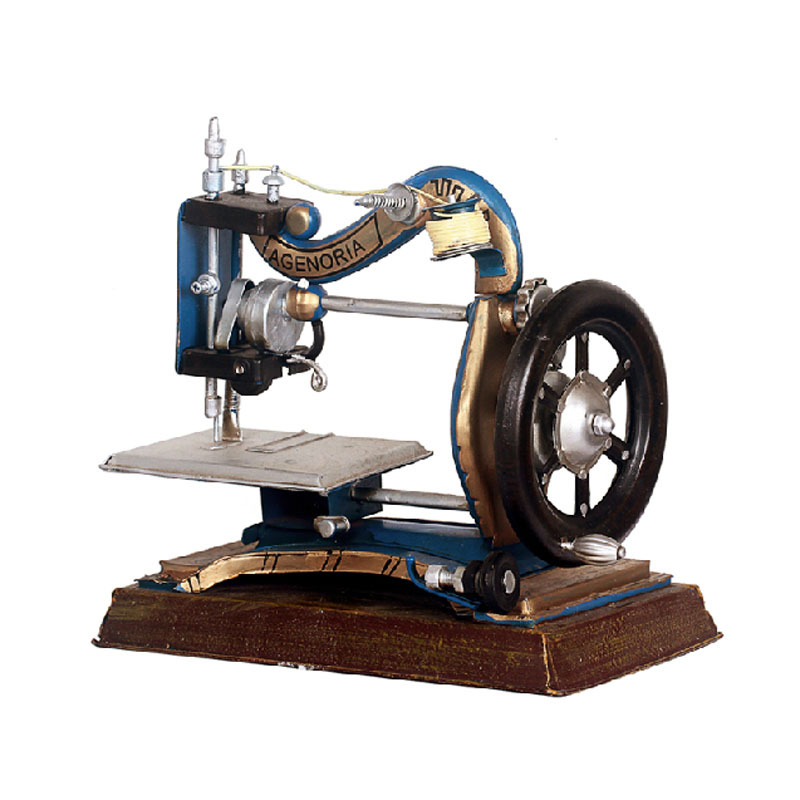 Retro sewing machine sewing machine model window display props tin ornaments Home Furnishing decorations taiwan speed sewing machine sewing machine sewing machine pneumatic pipe jointing machine ventilation pipe linking tool