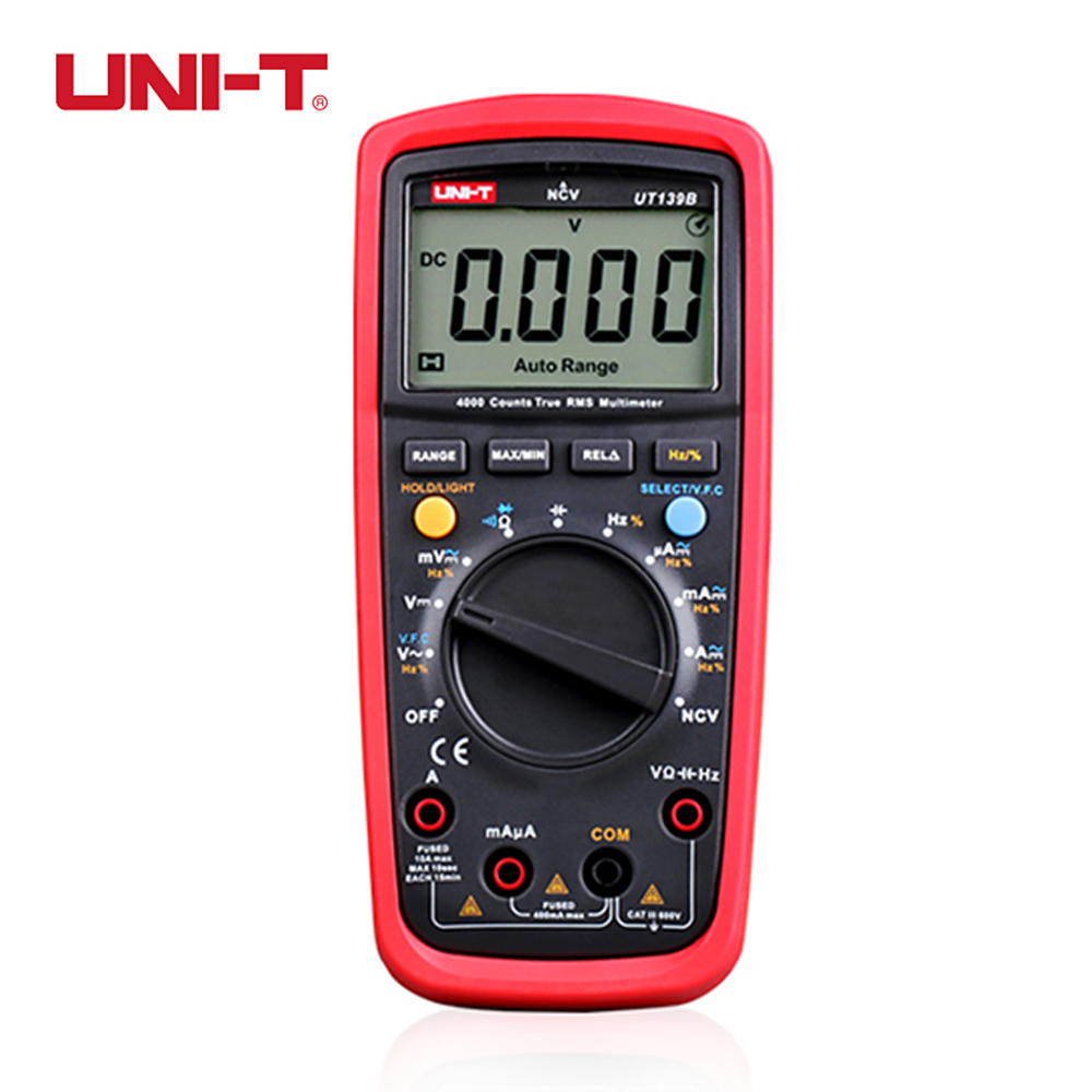 UNI-T UT139B True RMS Handheld Electrical Digital Multimeters LCR Voltage Cureent Meter Tester Multimetro Ammeter Voltmeter uni t ut139c true rms digital multimeter handheld electrical lcr voltage current meter tester multimetro ammeter multitester