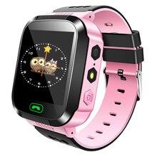 Купить с кэшбэком MOCRUX Q528 Smart watch Children Kid Wristwatch SOS GSM Locator Tracker Anti-Lost Safe Smartwatch Child Guard for iOS Android