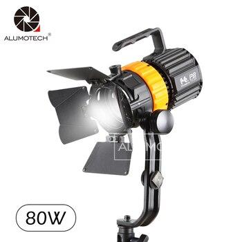 ALUMOTECH FalconEyes Daylight 5600K 80W LED Spot Fresnel Light+Modifiers Kit For Studio Photography Video Camera Film Photo