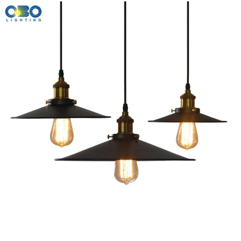 Vintage Žárovka Pendant Lamp Nákupní Ozdoba Styl Závěsná lampa Vnitřní osvětlení E27 Držák lampy 110-240V Doprava zdarma