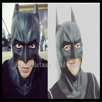 New Batman Mask for COS Returns vs Superman The Dark Knight Latex Full Mask Hood Silicone Halloween Party Black Cosplay Avengers