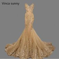 Vestido de festa Роскошные вечерние платья Милая вечернее платье золотые блестки Русалка Вечерние платья Длинные 2018 Ebay best продажи