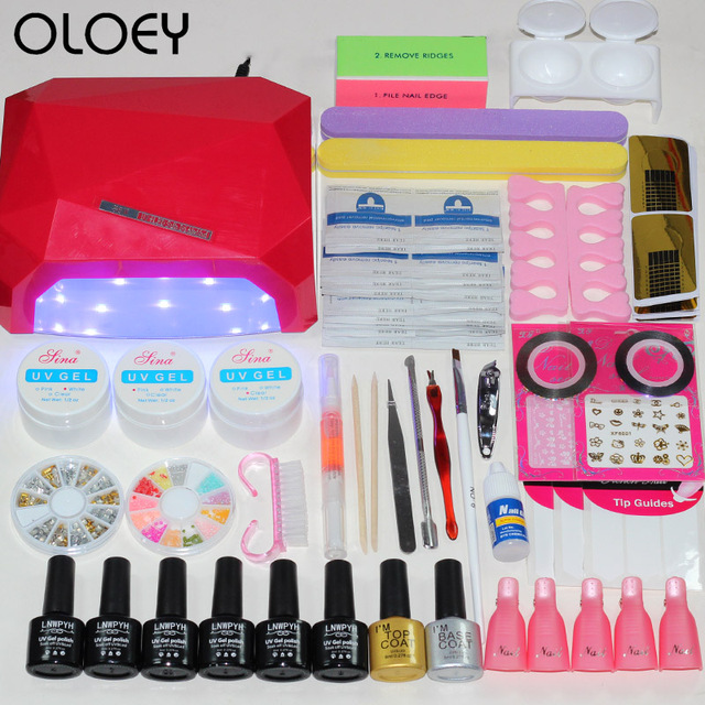 36W Nail Dryer Set for Manicure Nail Extension UV Gel Manicure Kit ...