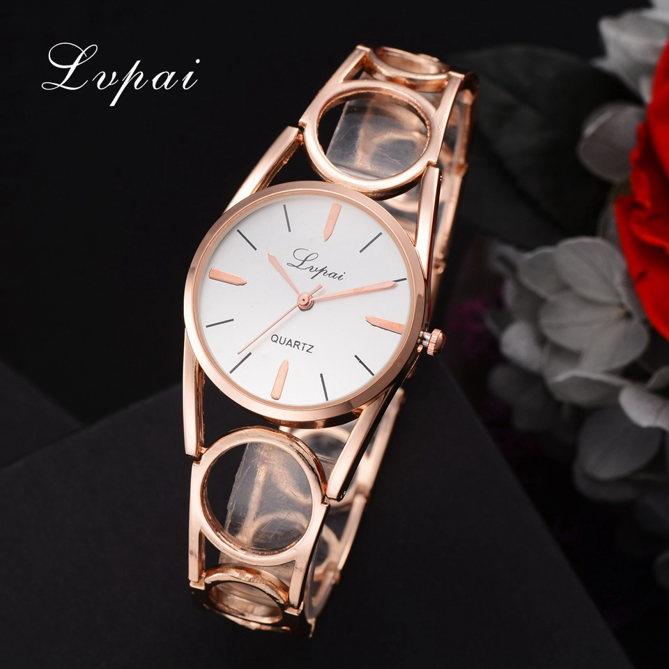 Lvpai Fashion New Creative Women Watches 2018 Designer Strap Full Stainless Steel Wristwatch Ladies Dress Lovers Quartz Watch