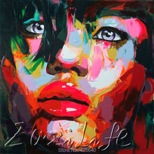 Palette knife painting portrait Palette knife Face Oil painting Impasto figure on canvas Hand painted Francoise Nielly 16