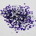 2016 Novos negócios 5000 pçs/lote Cor Violeta 3D glue no Plano Voltar Nail Art Não Hotfix Rhinestones Glitter Gems Jewery contas