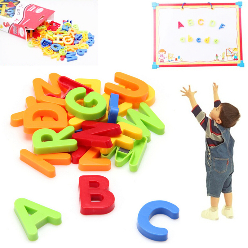 80pcs plastic magnetic letters and numbers set for Magnetic letters for babies