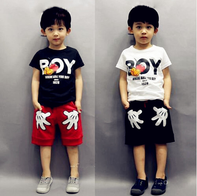 92e0b634c2ce Children Clothing Sets Summer Mickey Baby Boys Clothes Short Sleeve ...