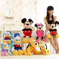 30cmMinnie Mickey Plush Toy Cute Mouse Stuffed Soft Doll Donald Daisy Duck Goofy Pluto Dog Plush Kids Toy Gift For Boy and Girl