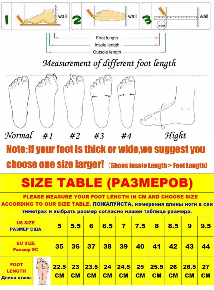 shoessizetable