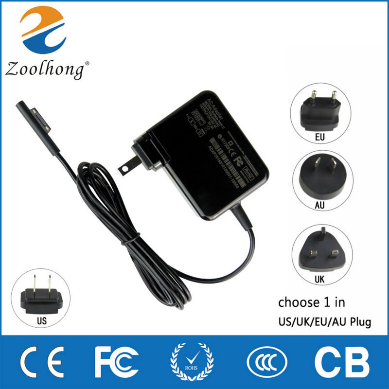 AC <font><b>Adapter</b></font> Power Supply <font><b>15V</b></font> <font><b>4A</b></font> DC 5V 2A Charger For Microscoft Surface Book Pro4 image