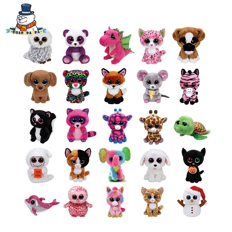 [Quanpapa] 10 шт./лот 15 см хлопок Животные плюшевые игрушки куклы случайный регулярные мягкие Животные Ty Beanie Боос плюшевые игрушка для ребенка