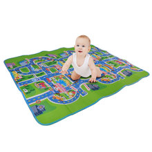 Play Mat Baby Crawling mat Town City Traffic EVA Children's Play Mat Carpet for Baby Waterproof Game Rug Carpet Green Road funny(China)