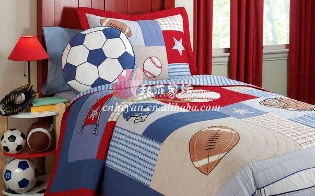 Bambini piumino trapuntato per letto singolo cotone basket lenzuola