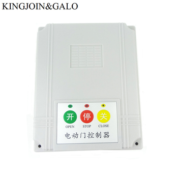 AC220V/AC230V Door controller for sliding gate opener and Single motor with rail retractable door with remote control