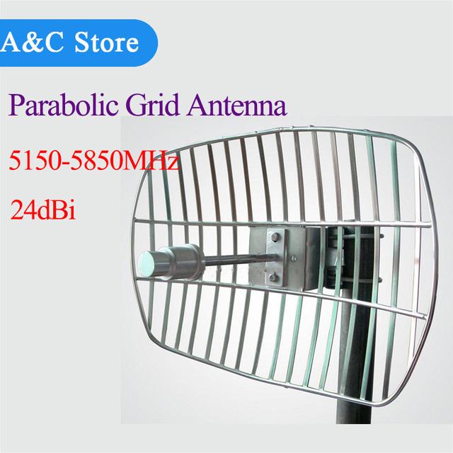 5.8g 24dBi Antena Parabólica Rejilla de control remoto de Audio y Vídeo av Inalámbrico Receptor FPV Aeroplano DEL RC conector personalizado