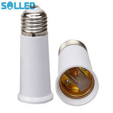 SOLLED E27 to E27 95mm Extend Socket Base Lamp Holder Converter Light Bulb Cap Conversion Adapter TH(China)