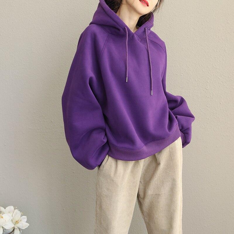 Winter Casual Fleece Women Hoodies Sweatshirt